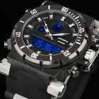 INFANTRY Mens LED Digital Quartz Wrist Watch Chronograph Military Sport Rubber