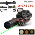 3-9X32EG Rifle Scope/Holographic Scope/Red/Green Laser sight/Mount adapter Set