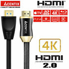 ACENTIX® HDMI 4K V2 High Speed With Ethernet Cable Lead For TVs Sky HD PS4 Xbox