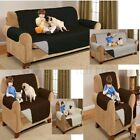 REVERSIBLE SOFA PROTECTOR THROW SLIP COVER DOG CAT PET WATERPROOF 1/2/3 SEATER