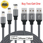 Lightning Cable Cord USB Charger Charging For OEM Apple iPhone X/8/7/6/5 Plus