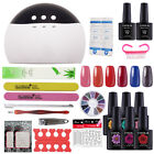 Coscelia Nail Gel Polish UV/LED Kit Deluxe Accessories & 24W PRO LED White Lamp