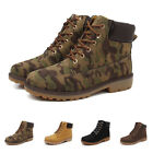 Mens Boots Faux Suede Office Casual Dress Desert Ankle Shoes Winter Camouflage