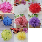 8Color Flower Fascinator Elastic Pin Hair Wrist For Corsage Wedding Bridal Party