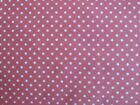 Pink spotty polka dot fabric 100% cotton available fat quarter half metre metre