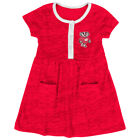 Wisconsin Badgers Colosseum Infant Girls Triple Jump Red 3 Button Dress