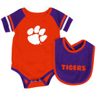 Clemson Tigers Colosseum Roll-Out Infant One Piece Outfit and Bib Set