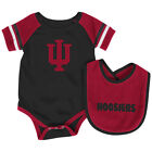 Indiana Hoosiers Colosseum Roll-Out Infant One Piece Outfit and Bib Set