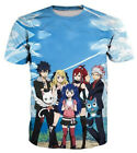 New Fashion Anime Fairy Tail Print Men Women 3D T-Shirt Casual Short Sleeve Tops