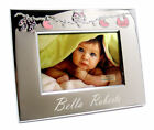 Personalised Pink and Silver Baby Themed Photo Frame Engraved Git