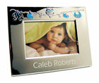 Personalised Blue and Silver Baby Themed Photo Frame Engraved Git