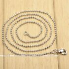 1pc White Gold Silvery Ball Bead Link Chain 1.5mm Necklace Unisex Jewelry Gift