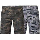 Mens Camo Cargo Shorts D555 Duke King Size Victor Military Army Knee Length New