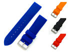 Croc Pattern Soft Silicone Watch Band Stainless Steel Buckle 18mm - 24mm C033