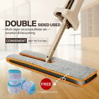 Telescopic Free Washing Double Sides Flat Mop Cleaning Tool Home Floor Cleaner