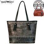 Montana West Trinity Ranch Floral Tooled Leather Concealed Carry Tote Handbag
