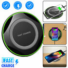 Qi Wireless Charger Slim Pad Ultrathin Fast Charging For Cell Phone Universal US