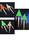 2x Boho Punk Spike Rivet Metal Dangle Earring Ear Stud Triangle Geometric Gift