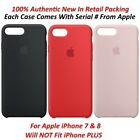 100% Authentic Apple iPhone 7/8 Slim Silicone Case Cover Factory Sealed