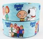 1 X METRE FAMILY GUY CHARACTER RIBBON FOR HAIR CAKE CRAFT 38MM POLYESTER