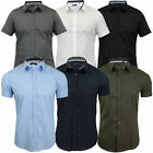 Mens Shirts Brave Soul Short Sleeved Mombassa Plain Collared Comfortable Summer