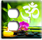 FENG SHUI STONES BAMBOO OM SYMBOL YOGA LIGHT SWITCH OUTLET WALL PLATE ROOM DECOR