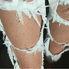 Ladies Women Sexy Bling Crystal Rhinestone Fishnet Pantyhose Elastic Stockings