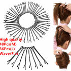 High quality Invisible Hair Clips Flat Top Bobby Pins Grips Salon Barrette Black