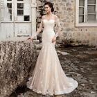 New Lace Appliques Sweetheart Zipper Mermaid Wedding Dresses Custom made