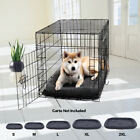 Pet Dog Cat Crate Kennel Cage & Bed Pad Cushion Cozy Soft S-2XL Washable Mat