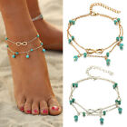 Boho Beads Tassel  Anklets Foot Chain Ankle Bracelet Beach Lucky Jewery Gift