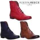 Justin Reece Ladies Womens Pixie Leather Ankle Boots Uk Size 3 4 5 6 7 8