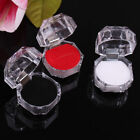 20pcs Gift Crystal Clear Acrylic Transparent Jewelry Box Case For Ring Earrings