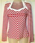 NEW LINDY BOP RED & WHITE 50'S STYLE TOP IN SIZES 8 OR 14 # 595+BX