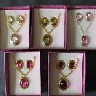 Wholesale 4 - 8 -12 Necklaces Earrings Teenager Girls Gift Assorted Colours Box