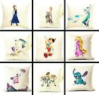 WATERCOLOUR SPRAY CUSHION COVER DISNEY CHARACTER SINGLE SIDE WOVEN ALADDIN OLAF