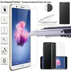 Slim Soft Silicone TPU Clear Case Cover Screen Protector For Huawei P Smart 2018