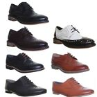 Womens Thick Sole Round Toe Shoes Office Work Ladies Brogue Shoes Size
