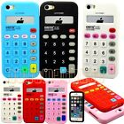 for iPhone 5 5s calculator design red pink blue white black soft case skin nice