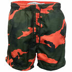 Boys Camo Swimming Shorts Brave Soul Kids Military Army Perth Mesh Lined Summer