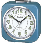 Casio Collection Wake Up Timer White Face w illumines Hands Alarm Clock TQ-143S