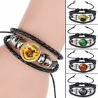 Harry Potter Woven Bracelet Band Griffindor Slytherin Ravenclaw Hufflepuff Badge