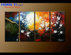 Large Abstract Oil Painting Cherry Blossom Chinese Art Wall Canvas Modern Decor