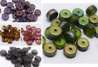 6 (mm) CZECH GLASS FLAT ROUND/DISC/RONDELLE/SPACER BEADS - (30PCS)