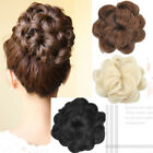 Elegant Flower Style Woman Lady Curly Hair Bun Hairpiece 5 colors In