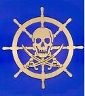 Pirate's Ship Wheel Unfinished Wood Shape Cut Out P11236 Lindahl Woodcrafts