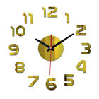 Modern DIY Analog 3D Mirror Surface Large Number Wall Clock Sticker