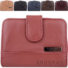 Ladies / Womens Genuine Leather Bi-Fold RFID Protected Money / Coin Holder
