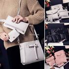 Women 4pcs PU Leather Shoulder Bag Tote Handbag Purse Messenger Satchel Clutch@