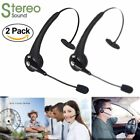 bluetooth for mobile - 2X Over the Head Boom Mic Wireless Bluetooth Headset For Mobile Trucker Drivers